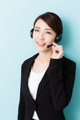 young asian woman in the office
