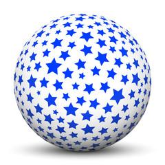 Weiße Kugel, Sterne, Textur, Ball, Sphere, White, Texture, 3D