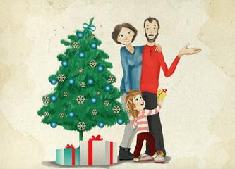 "Illustration ""Merry Christmas moments """