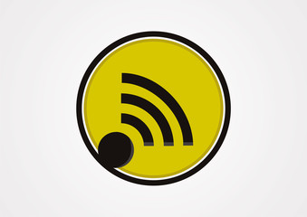 Wireless communication icon vector design