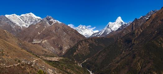 Great Himalayan range, Solu Khumbu, Sagarmatha NP, Nepal