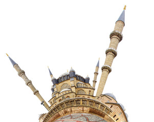 Selimiye Mosque with the little planet effect.