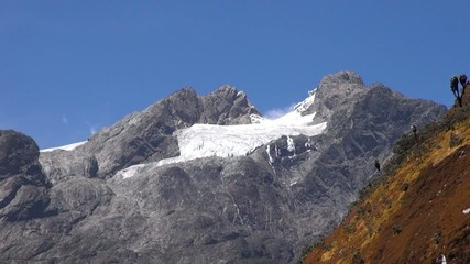 Zoom out view of the Rwenzori Mountains, Uganda