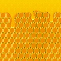 honey drops honeycomb background