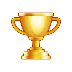 Winner Gold Cup on White Background. Vector