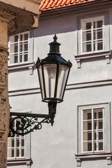 Old street lamp in Prague street