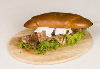 Big hamburger - Stock Image macro.