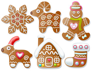 Set of gingerbread