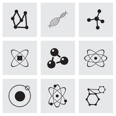 Vector atom icon set