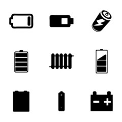 Vector batery icons set