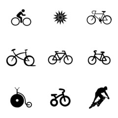 Vector bicycle icons set