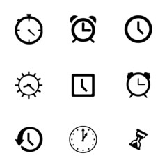 Vector clock icon set