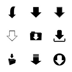 Vector download icons set