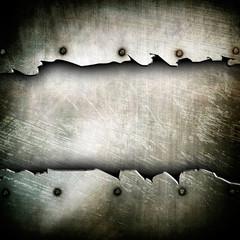 broken metal plate