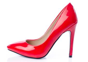 Red stiletto shoe