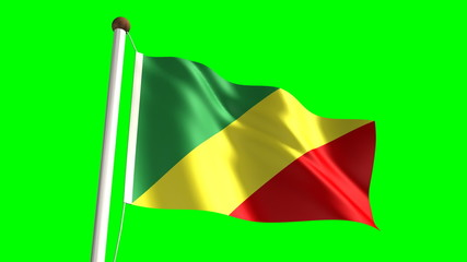 Congolese flag (seamless & green screen)