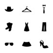 Vector clothes icons set - 73783461