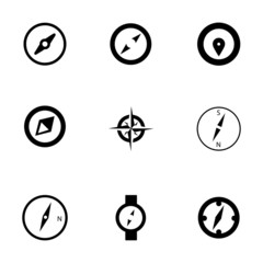 Vector compass icons set