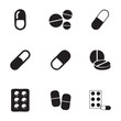 Vector pills icons set - 73783614