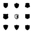 Vector shield icons set - 73783642