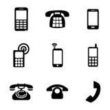 Vector telephone icons set