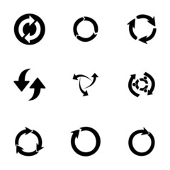 Vector refresh icons set