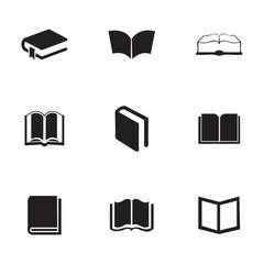 Vector schoolbook icons set