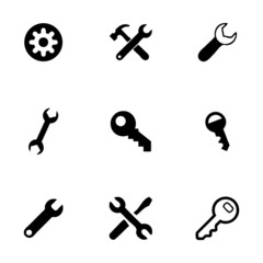 Vector settings wrench icons set