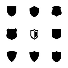 Vector shield icons set