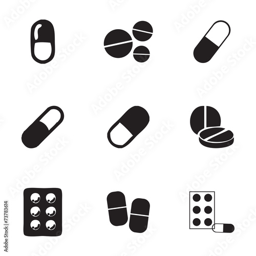 Vector pills icons set