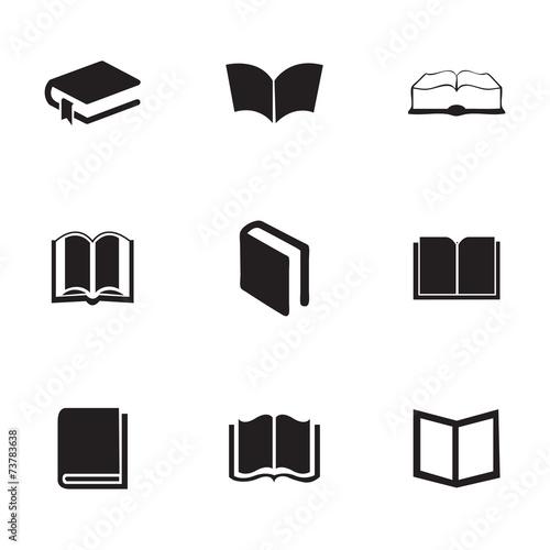 Vector schoolbook icons set - 73783638