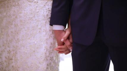 Hands newlyweds
