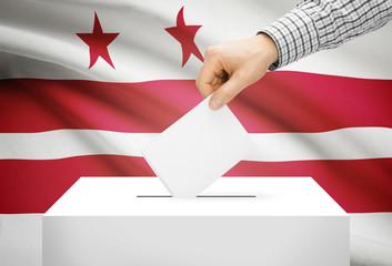 Ballot box with flag - District of Columbia, Washington, D.C.
