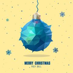 low poly art style Christmas ball