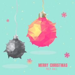 Christmas ball polygonal design