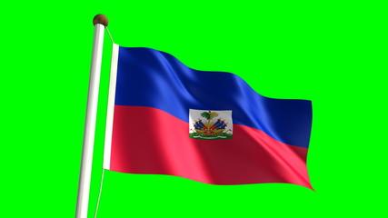 Haitian flag (seamless & green screen)