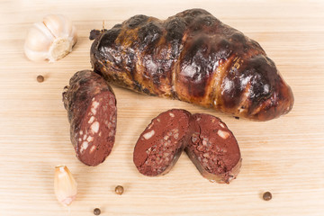 Ukrainian sausage from the blood
