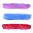 Colorful vector watercolor brush strokes - 73784808