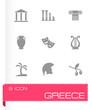 Obrazy na płótnie, fototapety, zdjęcia, fotoobrazy drukowane : Vector greece icon set