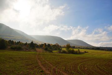 colores de otoño en la ruta del cañon del ebro