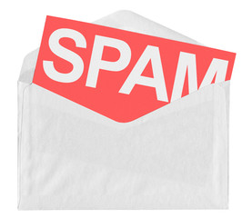 Envelope with spam