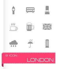 Vector london icon set