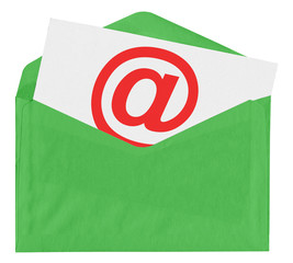 Envelope with at symbol