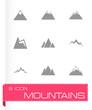 Vector mountains icon set - 73785236