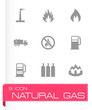 Vector natural gas icon set - 73785270
