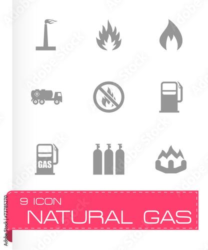 Vector natural gas icon set - 73785270