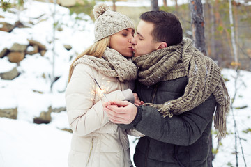Pre-New Year kiss
