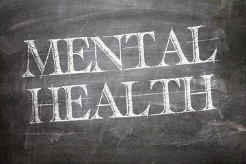 Mental Health written on blackboard