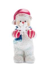 Schneemann mit Schneeflocke