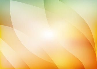 Abstract yellow orange green background